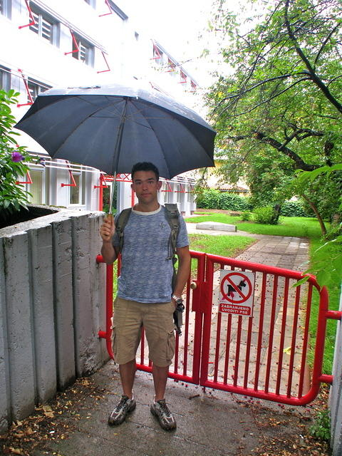 Me in front of my old preschool in Rijeka. When you were naughty, the teachers would pull your pants down in front of everyone,