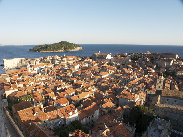 Pretty much the whole of the old town, with Lokrum in the background. Viewe
