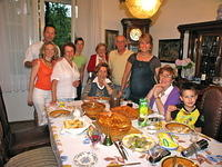 The Zagreb side of my family at dinner in Asja's house.